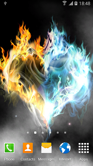 Screenshots of the Fire and ice by Blackbird wallpapers for Android tablet, phone.