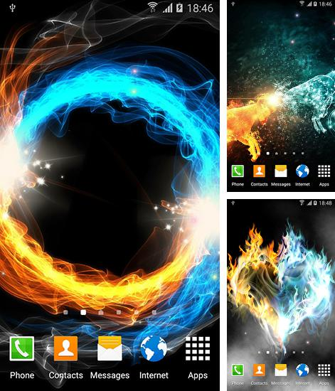 In addition to live wallpaper Juice for Android phones and tablets, you can also download Fire and ice by Blackbird wallpapers for free.