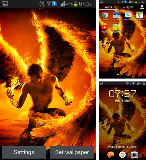 Download live wallpaper Fire angel for Android. Get full version of Android apk livewallpaper Fire angel for tablet and phone.