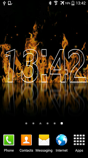 Download livewallpaper Fire clock for Android. Get full version of Android apk livewallpaper Fire clock for tablet and phone.