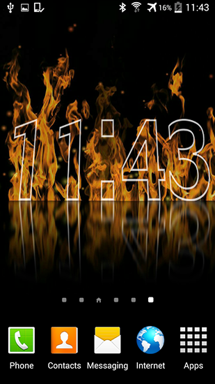 Download Fire clock - livewallpaper for Android. Fire clock apk - free download.