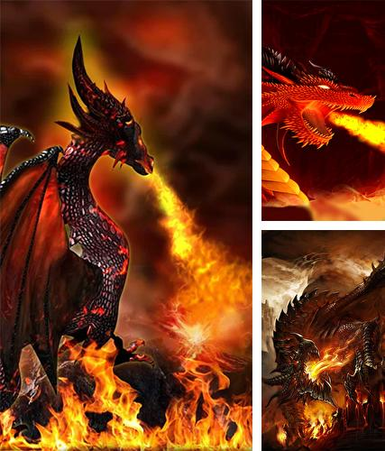 Kostenloses Android-Live Wallpaper Feuerdrache 3D. Vollversion der Android-apk-App Fire dragon 3D für Tablets und Telefone.