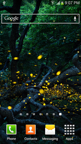 Fireflies by Top live wallpapers hq