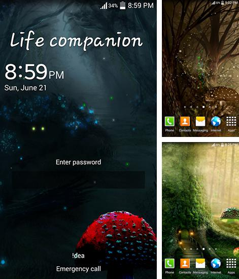 In addition to live wallpaper Spring flowers: Rain for Android phones and tablets, you can also download Fireflies: Jungle for free.
