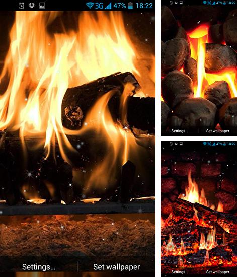 In addition to live wallpaper Night bringer for Android phones and tablets, you can also download Fireplace for free.