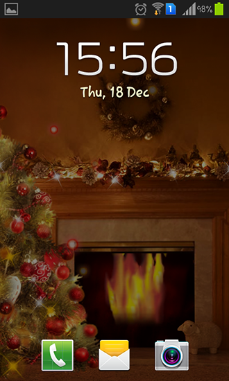 Screenshots of the Fireplace New Year 2015 for Android tablet, phone.