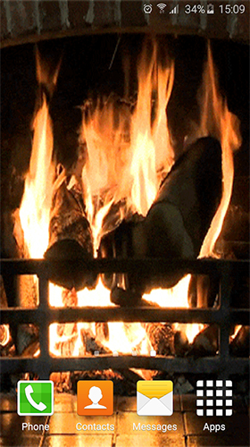 Screenshots of the Fireplace sound for Android tablet, phone.