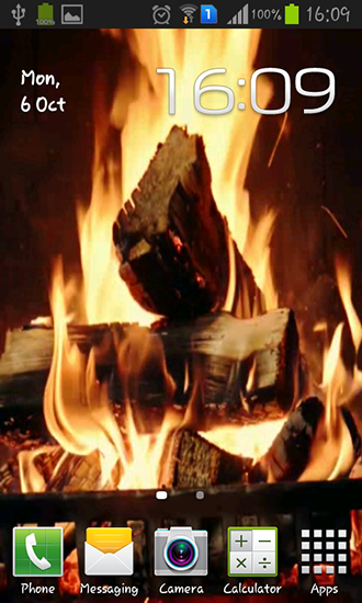 Fireplace video HD live wallpaper for Android  Fireplace