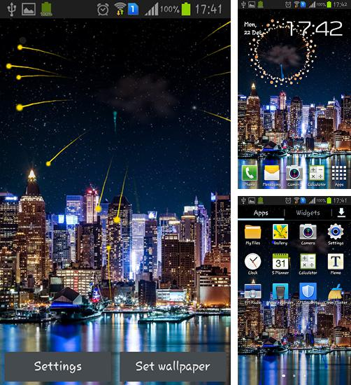 In addition to live wallpaper Winter sunset for Android phones and tablets, you can also download Fireworks 2015 for free.