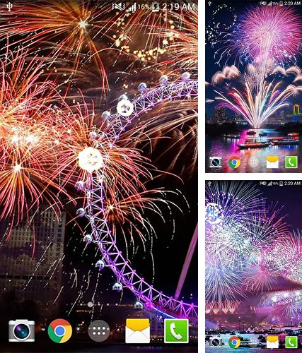 Fireworks by live wallpaper HongKong