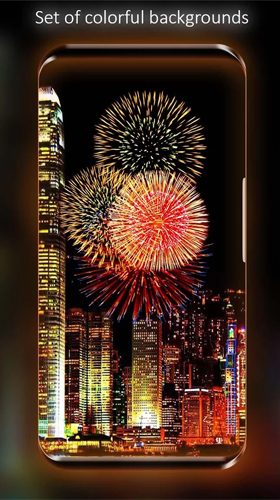 Screenshots von Fireworks by Live Wallpapers HD für Android-Tablet, Smartphone.