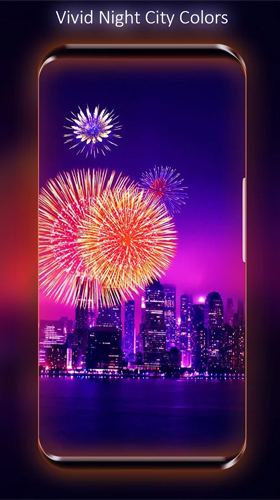 Геймплей Fireworks by Live Wallpapers HD для Android телефона.