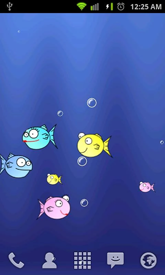 Screenshots of the Fishbowl by Splabs for Android tablet, phone.