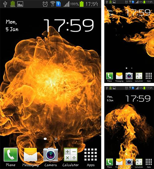 In addition to live wallpaper Dreamy place 3D for Android phones and tablets, you can also download Flames explosion for free.