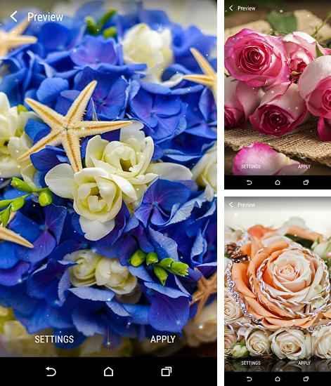 In addition to live wallpaper Fishbowl by Splabs for Android phones and tablets, you can also download Flower bouquets for free.