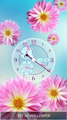 Free Live Flower Clock Wallpaper - Flowers Healthy