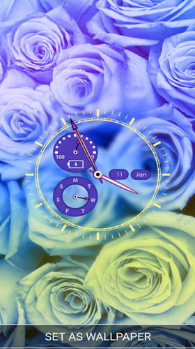 Screenshots of the Flower clock by Thalia Spiele und Anwendungen for Android tablet, phone.