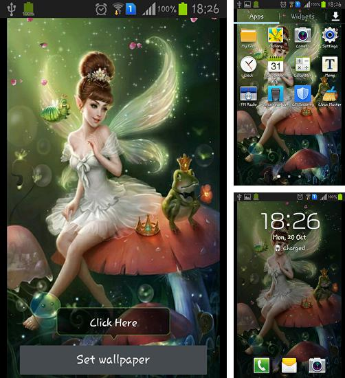Download live wallpaper Flower fairy for Android. Get full version of Android apk livewallpaper Flower fairy for tablet and phone.