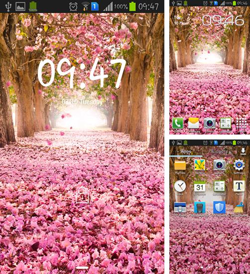 In addition to live wallpaper Jasmine for Android phones and tablets, you can also download Flower tree for free.