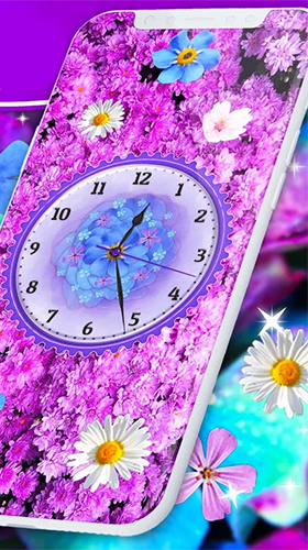 Download livewallpaper Flowers analog clock for Android. Get full version of Android apk livewallpaper Flowers analog clock for tablet and phone.