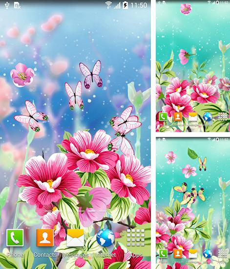 In addition to live wallpaper Dinosaur by live wallpaper HongKong for Android phones and tablets, you can also download Flowers by Live wallpapers for free.