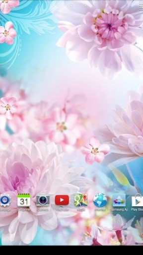 Screenshots von Flowers by Live wallpapers 3D für Android-Tablet, Smartphone.