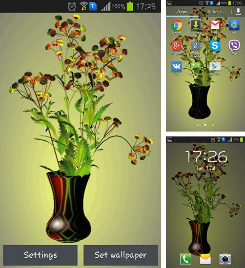 In addition to live wallpaper Aquarium by Cowboys for Android phones and tablets, you can also download Flowers by Memory lane for free.