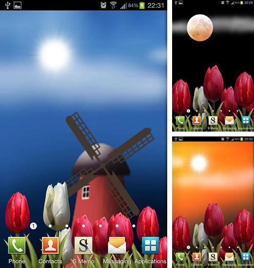 In addition to live wallpaper Nossia for Android phones and tablets, you can also download Flowers HD for free.
