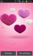Fluffy hearts - download free live wallpapers for Android. Fluffy hearts full Android apk version for tablets and phones.