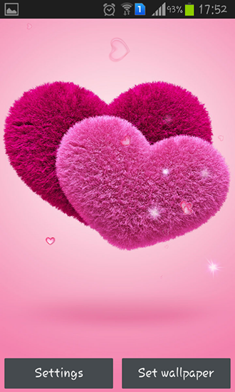 Download livewallpaper Fluffy hearts for Android. Get full version of Android apk livewallpaper Fluffy hearts for tablet and phone.