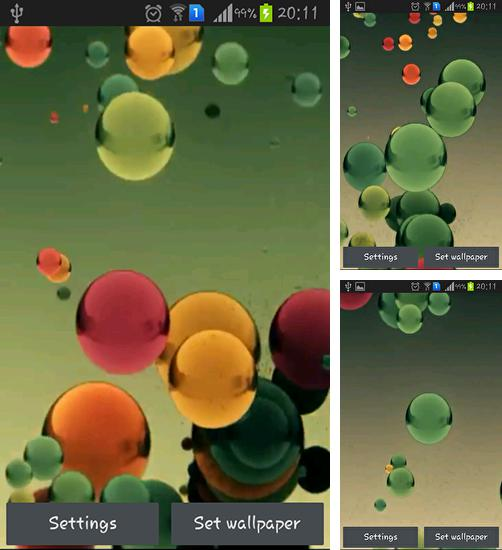 In addition to live wallpaper Cool technology for Android phones and tablets, you can also download Flying colored balls for free.