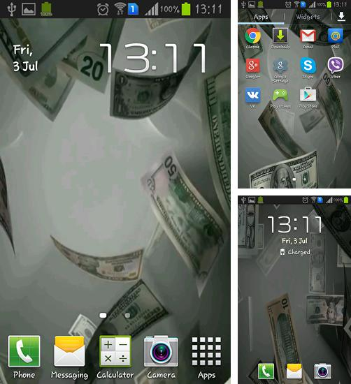In addition to live wallpaper Coffee for Android phones and tablets, you can also download Flying dollars 3D for free.