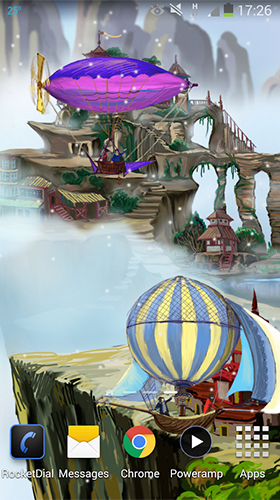 Screenshots of the Flying world for Android tablet, phone.