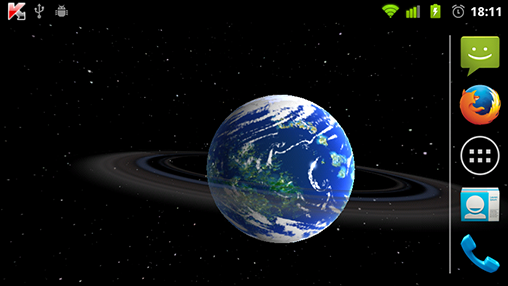 Screenshots do Planetas estrangeiros 3D para tablet e celular Android.