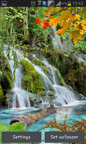 Capturas de pantalla de Forest, waterfall, lake para tabletas y teléfonos Android.