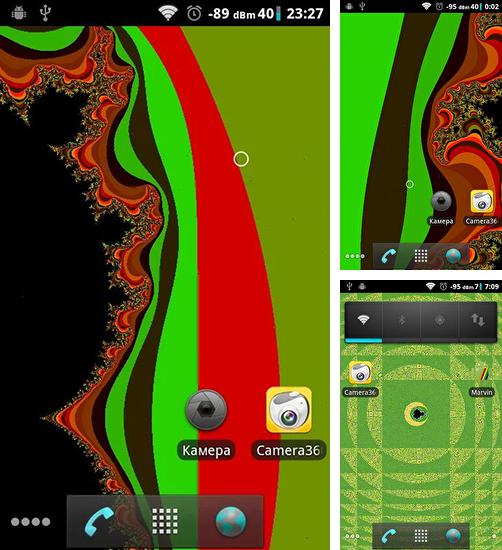 In addition to live wallpaper Black technology for Android phones and tablets, you can also download Fractal for free.