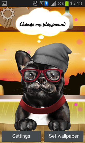 Screenshots of the French bulldog for Android tablet, phone.