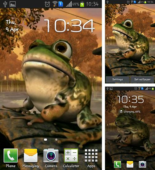 In addition to live wallpaper Funny Christmas kitten and his smile for Android phones and tablets, you can also download Frog 3D for free.