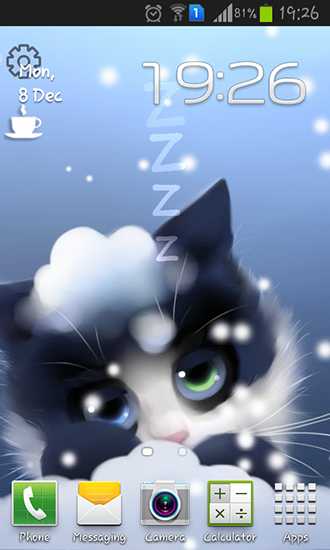 Download livewallpaper Frosty the kitten for Android. Get full version of Android apk livewallpaper Frosty the kitten for tablet and phone.
