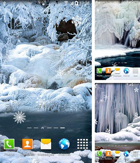 In addition to live wallpaper Beach by Byte Mobile for Android phones and tablets, you can also download Frozen waterfalls for free.