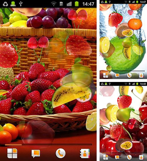 In addition to live wallpaper Raindrops for Android phones and tablets, you can also download Fruit by Happy live wallpapers for free.