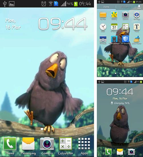 In addition to live wallpaper Chrooma Float for Android phones and tablets, you can also download Funny bird for free.