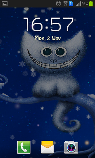 Screenshots of the Funny Christmas kitten and his smile for Android tablet, phone.
