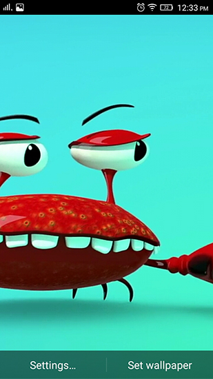 Funny Mr  Crab live wallpaper for Android  Funny Mr  Crab