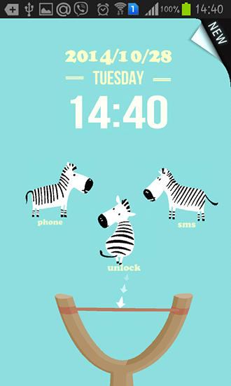 Screenshots of the Funny zebra for Android tablet, phone.