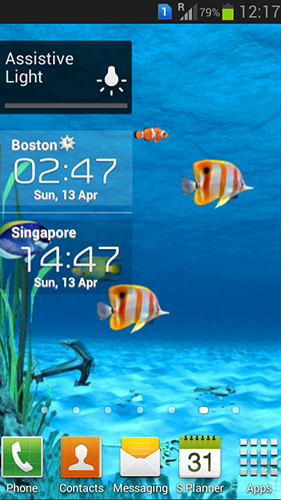 Kostenloses Android-Live Wallpaper Galaxy Aquarium. Vollversion der Android-apk-App Galaxy aquarium für Tablets und Telefone.