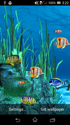 Galaxy aquarium für Android spielen. Live Wallpaper Galaxy Aquarium kostenloser Download.