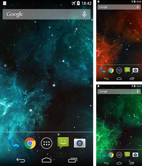In addition to live wallpaper Liquid waves for Android phones and tablets, you can also download Galaxy nebula for free.