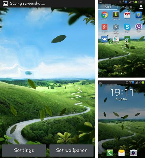 In addition to live wallpaper Juice for Android phones and tablets, you can also download Galaxy S4: Nature for free.