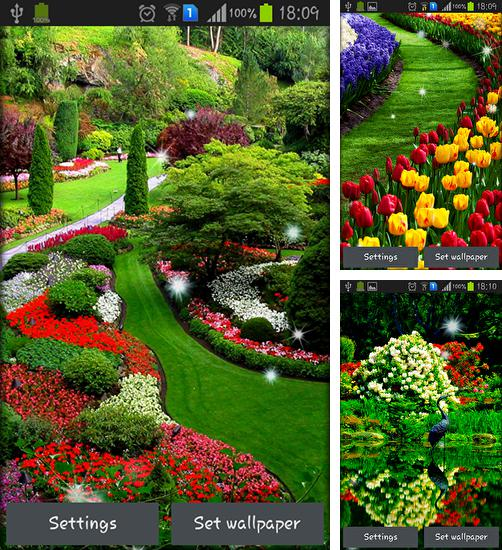 In addition to live wallpaper Liquify for Android phones and tablets, you can also download Garden for free.